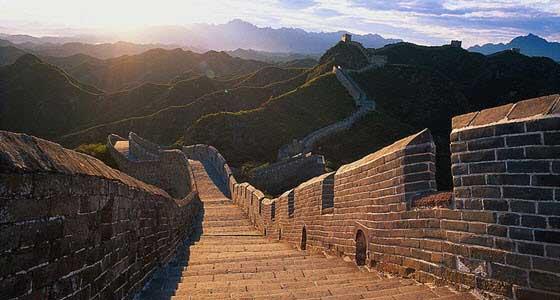 La construcción de la Gran Muralla China se prolongó durante siglos