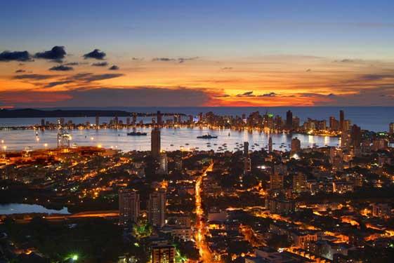 Así es el atardecer sobre Cartagena de Indias desde La Popa