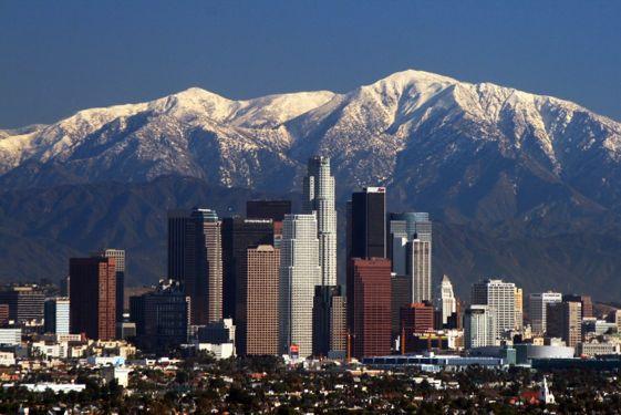 El espectacular skyline de Los Ángeles