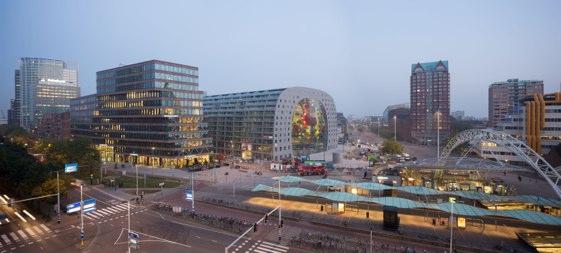 El Markthal se ha convertido desde mucho antes de su inauguración en el icono más reconocible de Rotterdam.