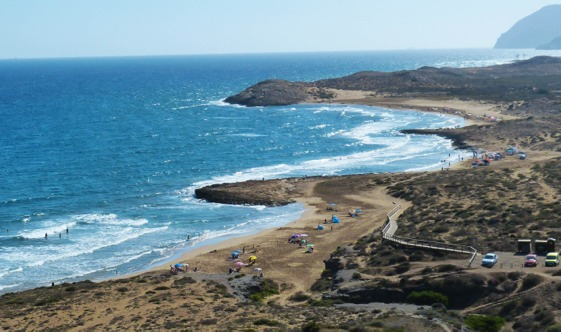 Las playas del Parque Regional de Calblanque, en Murcia.