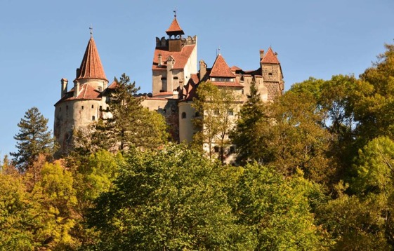 Drácula en estado puro en el castillo de Bran en Transilvania, Rumanía.