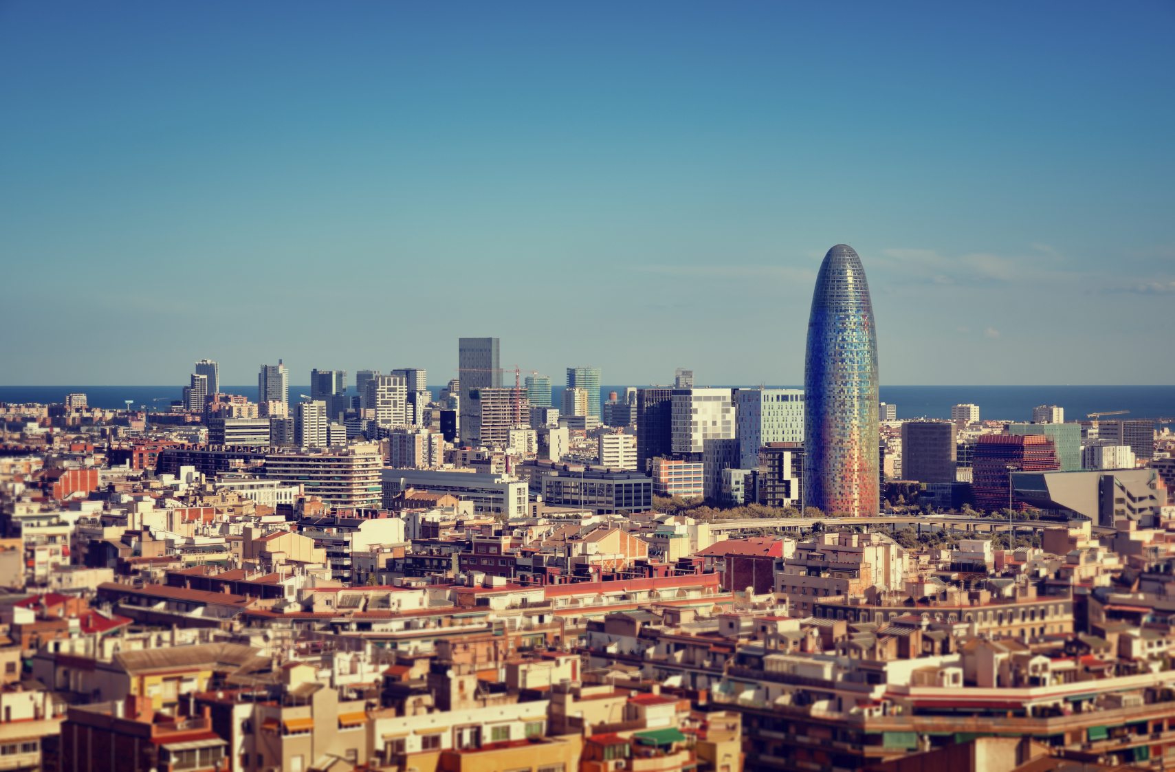 Barcelona`s Financial District