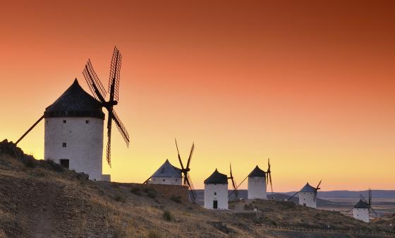 Windmills in Consuegra, Spain.