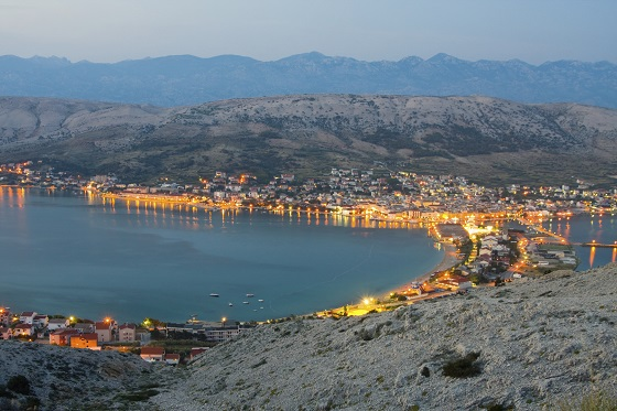 Pag, landscapes in Croatia