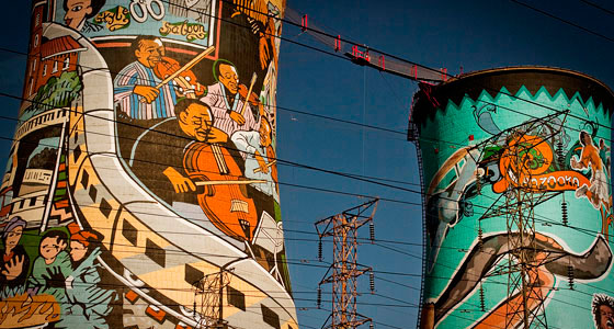 Orlando Towers, en Soweto (Johanesburgo). / Foto: ruivo!