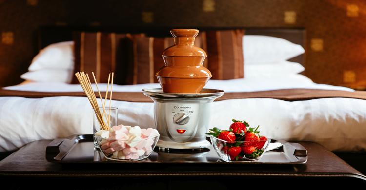 Una de las habitaciones del Chocolate Boutique Hotel. Foto: http://www.thechocolateboutiquehotel.co.uk