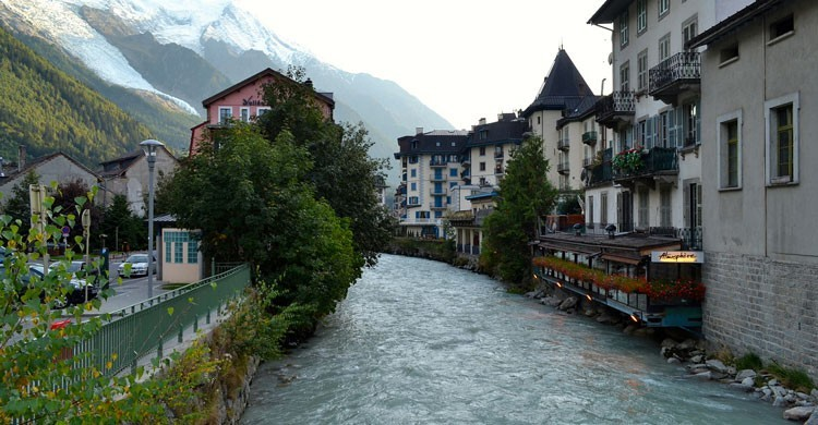 Río Arve a su paso por Chamonix. ptwo (Flickr).
