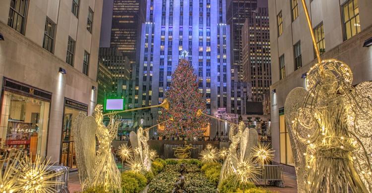 Árbol de Navidad en el Rockefeller Center. Anthony Quintano, Foter