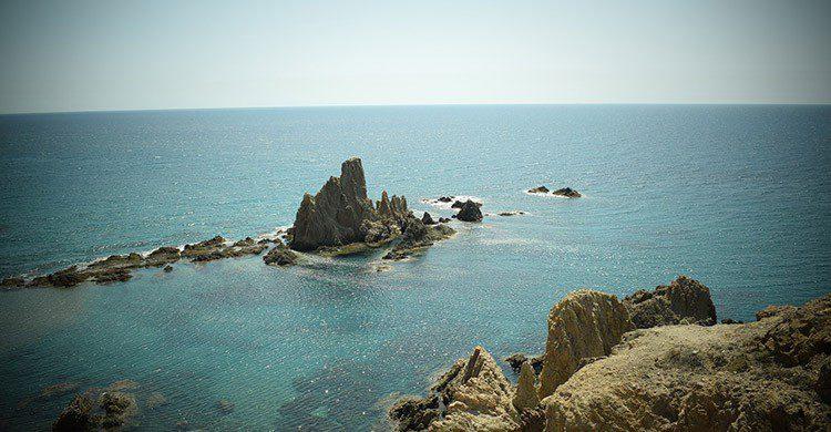 Arrecife en el Cabo de Gata