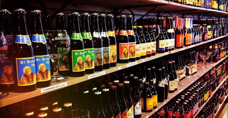 En Brujas hay cervezas como personas, ¡de todos los tipos! Michael Sonnabend (Flickr)