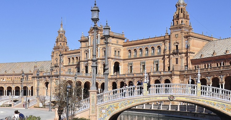 Plaza de España de Sevilla (Flickr)