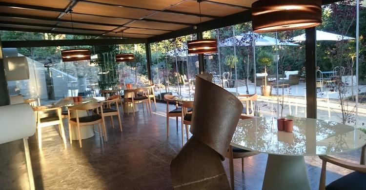 Interior del restaurante El Invernadero