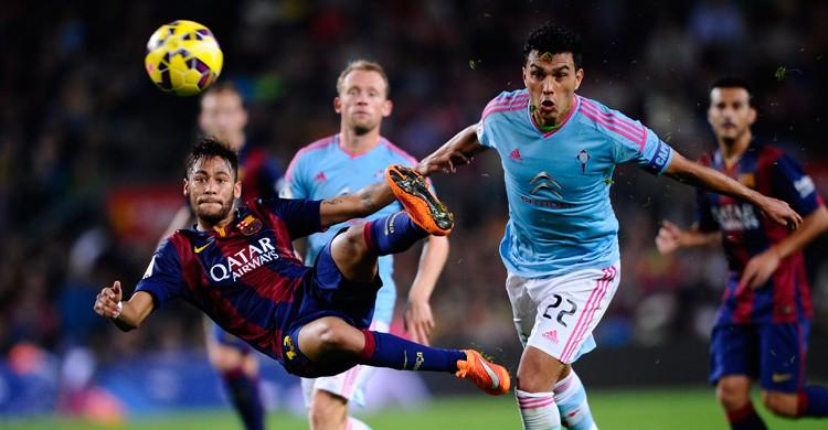 Imagen del partido Barcelona-Celta de la temporada 2014-15. Manu Fernández (AP Photo)