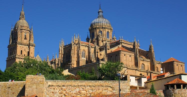 Vista de las dos catedrales de Salamanca. Antonio García (Flickr)