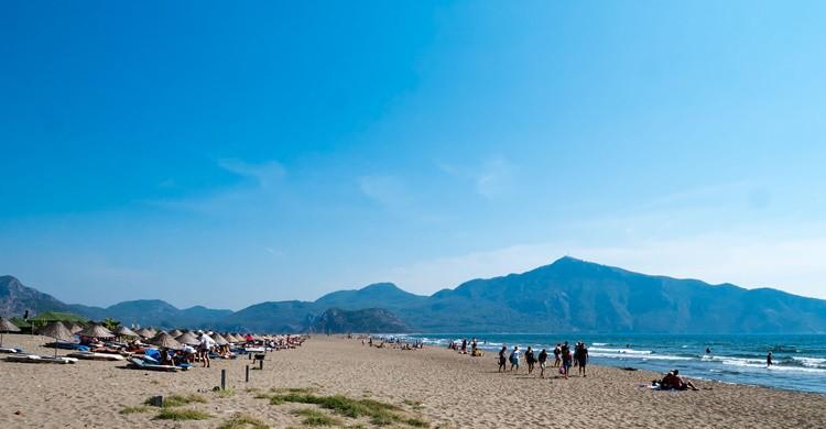 Aspecto general de la playa de Iztuzu en Turquía. ReflectedSerendipity (Flickr)