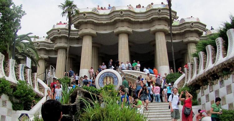 Turistas en la escalinata. -ted (Flickr)
