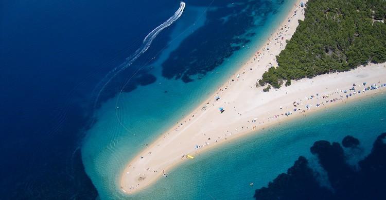 Espectacular lengua de arena en Croacia. Szabolcs Emich (Flickr)