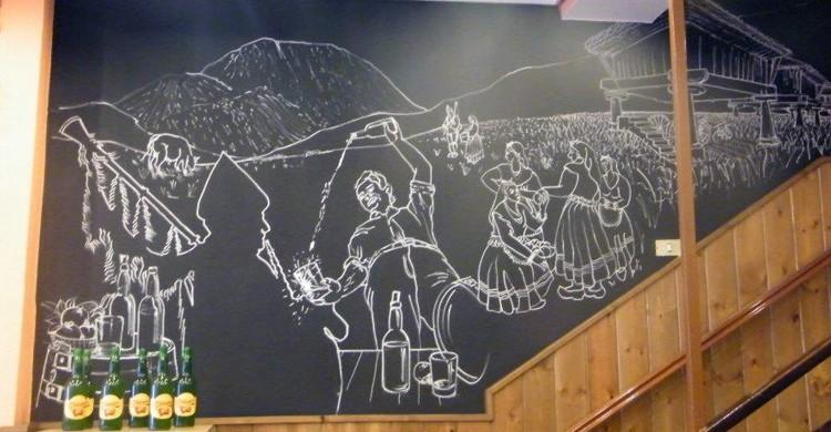 Mural. Sidrería Villa de Avilés, Facebook