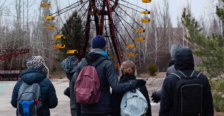 Turistas en Prípiat / Chernóbil (Istock)