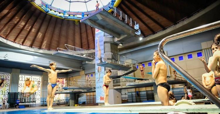 Piscina de salto. Centro de Natación Mundial 86 (Facebook)