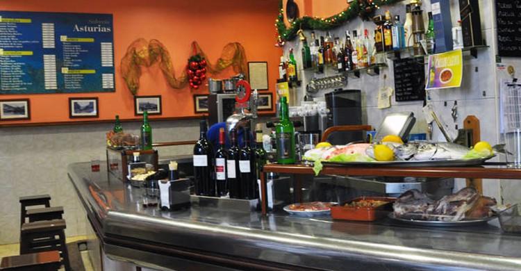 La barra. Sidrería Asturias (www.sidreriaasturias.com)