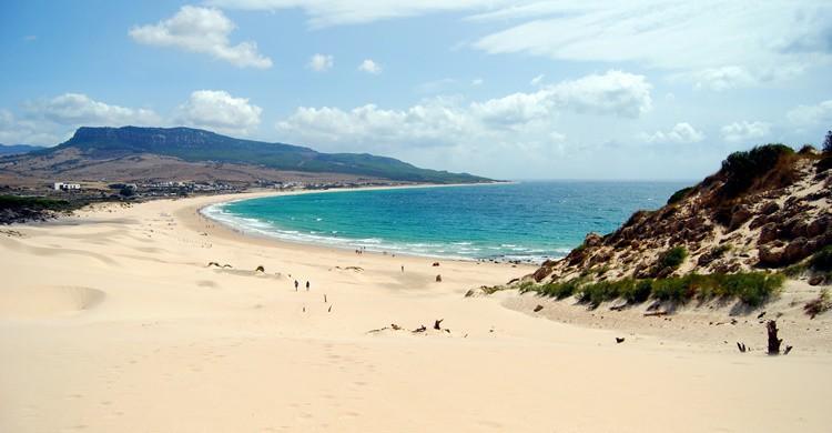 Imagen de la playa de Bolonia desde una de sus dunas. Carlos ZGZ (Flickr)