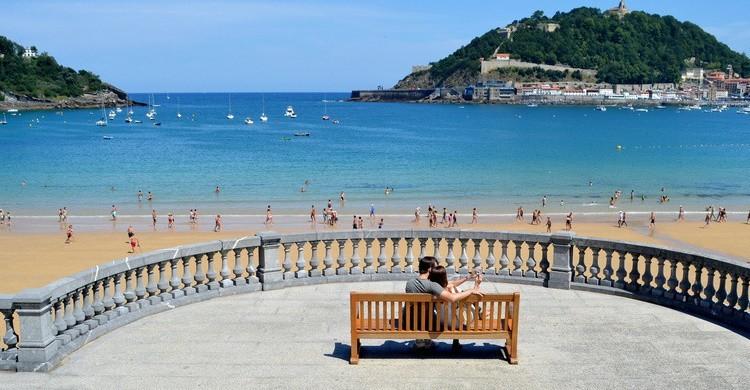 Playa de la Concha, desde el paseo. Basque Destination (Flickr)