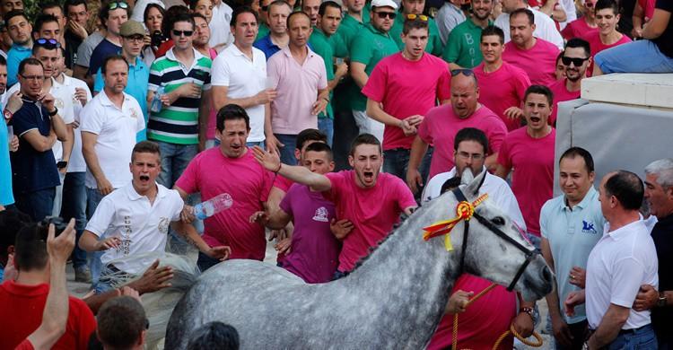 Peñas en las fiestas de Caravaca de la Cruz. Pedro Semitiel (Flickr)