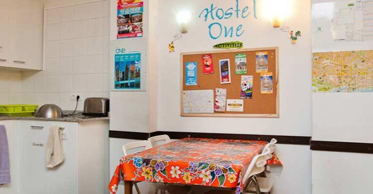Hostel One Paralelo, en Barcelona (Facebook)