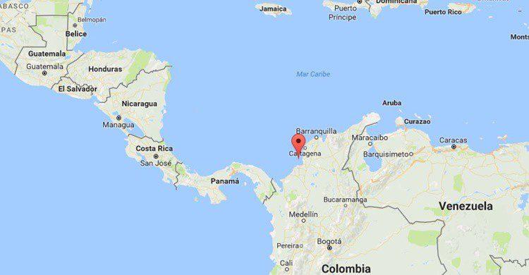 Situación de Santa Cruz del Islote. (Google Maps)