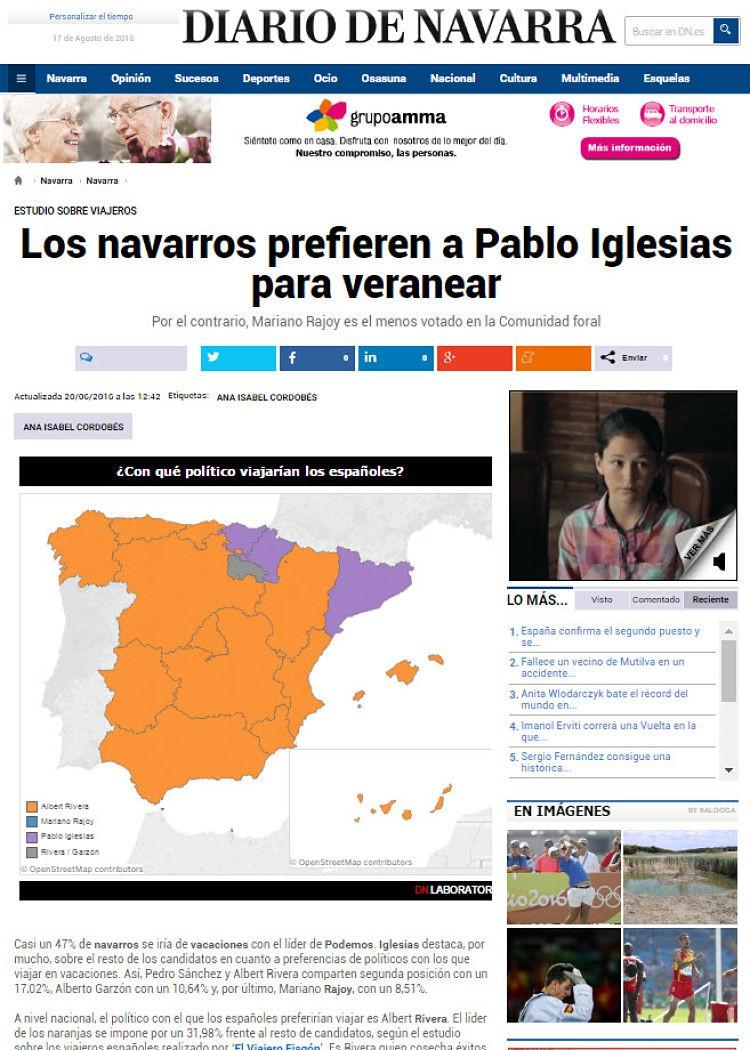 El Diario de Navarra, otro de los medios de comunicación que nos han publicado.