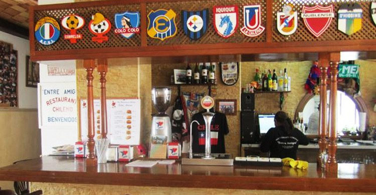 Barra del restaurante (Restaurante Entre Amigos)