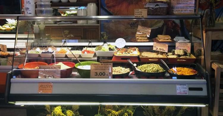 Mostrador de ensaladas (Aliño, Facebook)