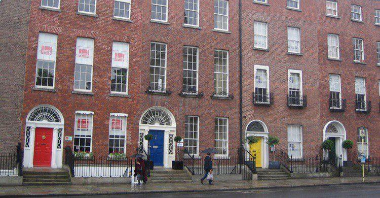 Casas georgianas de Dublín. Cathrine Johansson (Flickr)