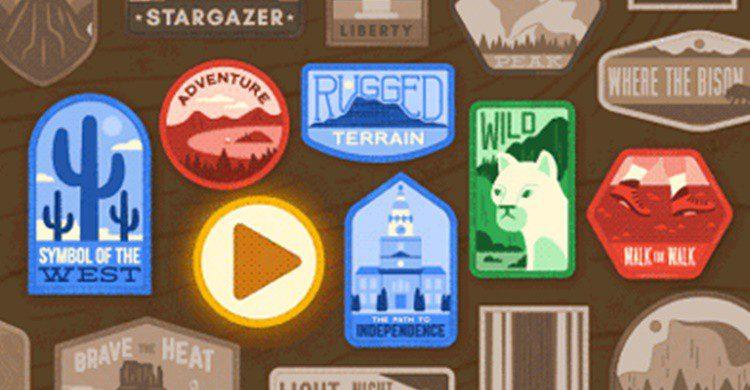 Doodle de homenaje a los Parques Nacionales de Estados Unidos (Google).