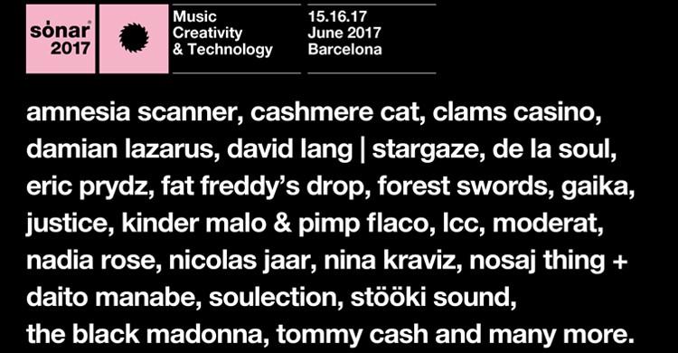 Lineup confirmado (Sónar Festival, Facebook)