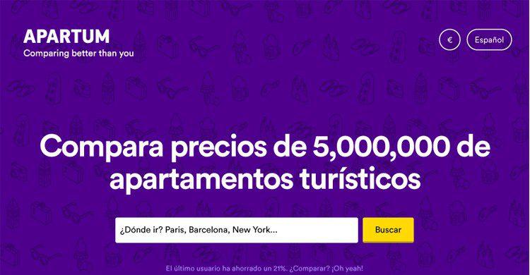 Captura de la Web de Apartum