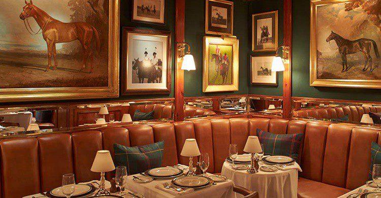 Mesas en The Polo Bar de Nueva York. (http://www.ralphlauren.com)