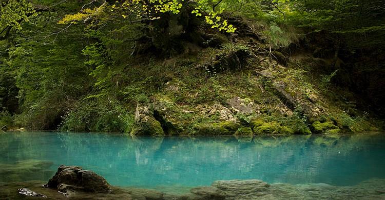 El río Urederra cerca de su nacedero (Bea.miau, Wikipedia)