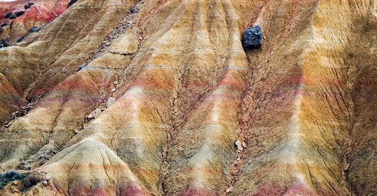 Erosión de rocas en Aragón, Aragón (España)