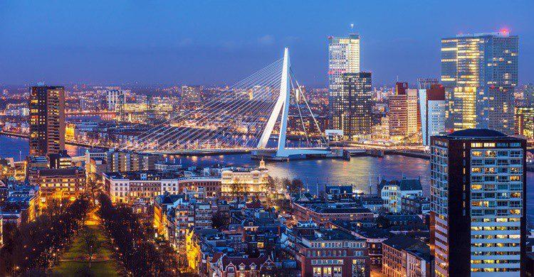Vista parcial de Rotterdam. Mihaiulia (iStock)