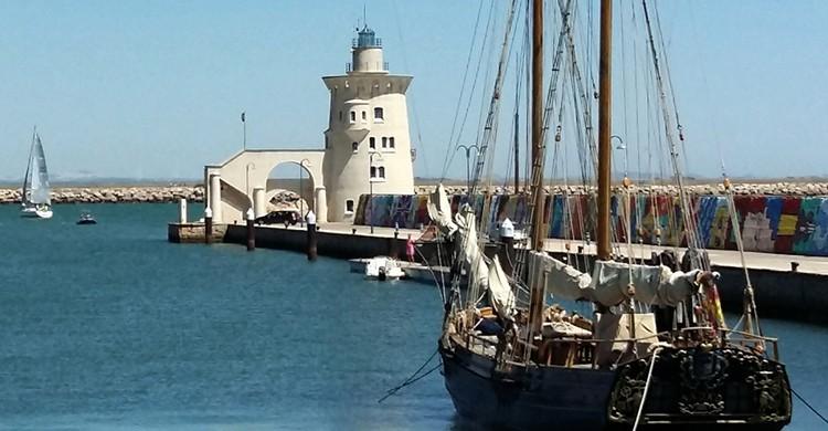 Velero en El Puerto de Santa María, Cádiz