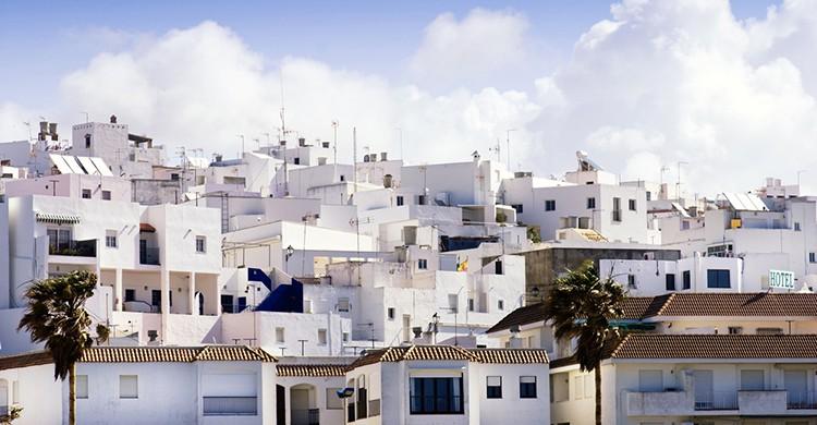 Las típicas casas blancas de Conil de la Frontera, Cádiz