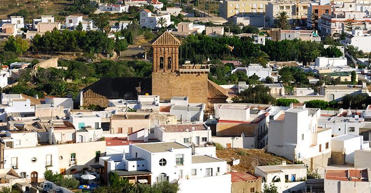 Vistas del centro de Níjar, Almería