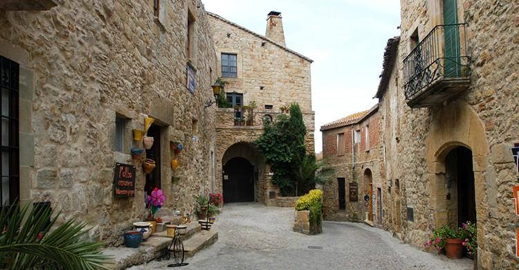 El centro histórico de Pals