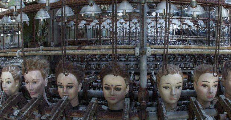cabezas de muñecas en fábrica España
