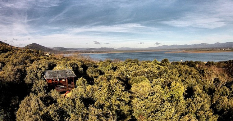 Vista de la cabaña El Atardecer (Web de Ecolodge)
