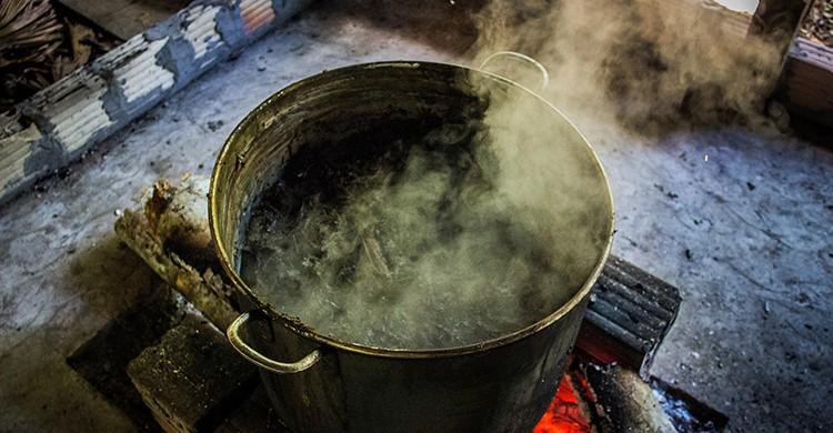Preparación de la de la infusión de ayahuasca