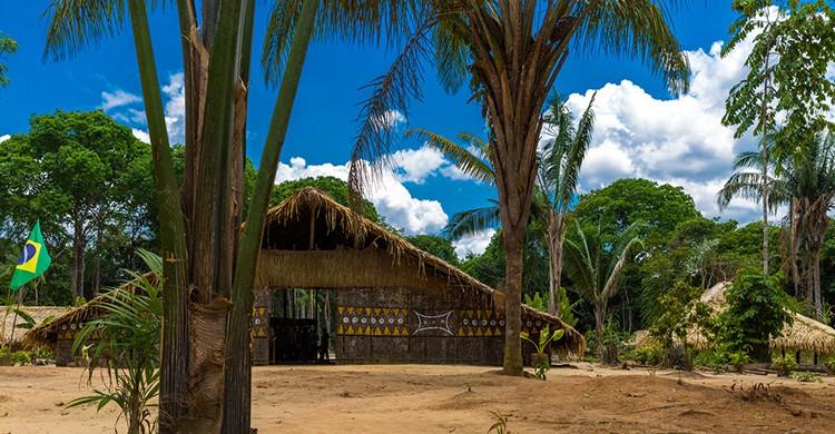 Típica casa en la Amazonía